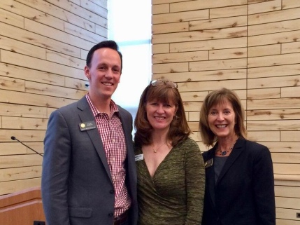With Rep. Dylan Roberts and Rep. Millie Hamner at Basalt Town Hall